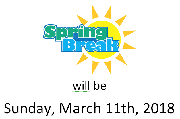 Spring Break, Hooray!
